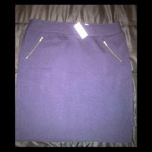 Dark Blue Loft Mid Skirt